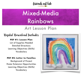 Mixed-Media Rainbow Art (Perfect for Spring, Weather Units, & St. Patrick's)