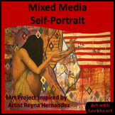 Mixed Media Self-Portrait like Reyna Hernandez