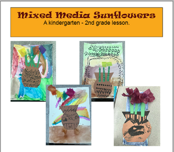 Mixed Media Sunflowers