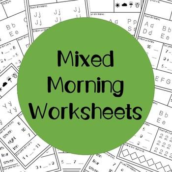 Mixed Morning Worksheets