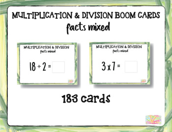 """Mixed Multiplication & Division 1-15 """"Boom Cards"""""""