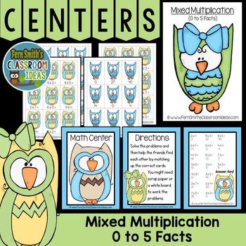 Mixed Multiplication Math Center Games 0 to 5 Multiplicati