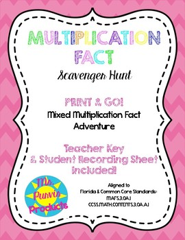 Multiplication Fact Scavenger Hunt