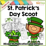 Mixed Multiplication and Division Scoot:  St. Patrick's Da