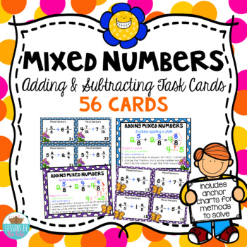 Mixed Number Addition and Subtraction Task Cards/ Anchor Charts