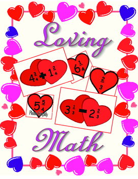 Mixed Number Additionn and Subtraction Ffraction Cards