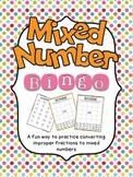 Mixed Number Bingo