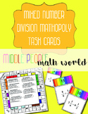 Mixed Number Division Mathopoly Task Cards
