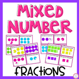 Mixed Number Fractions Task Cards