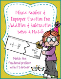 Mixed Number & Improper Fraction Addition/Subtraction Solv