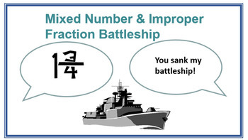 Mixed Number & Improper Fraction Battleship
