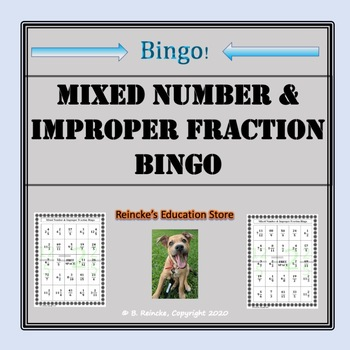 Mixed Number & Improper Fraction Bingo (30 pre-made cards!)