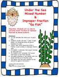 Mixed Number & Improper Fraction Go Fish Game!