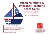 Mixed Number & Improper Fraction Scoot Game