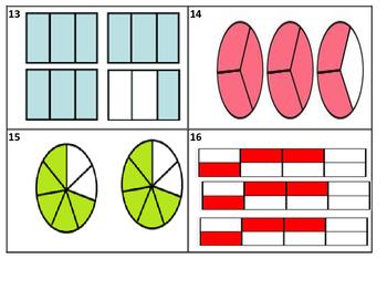 Mixed Number Improper Fraction Task Cards (28 Cards) TEK 2.3 AC