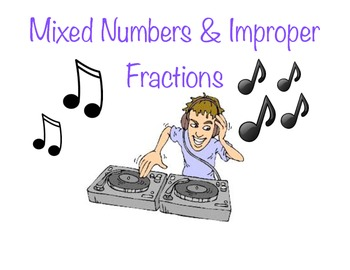 Mixed Number & Improper Fractions Center Activity