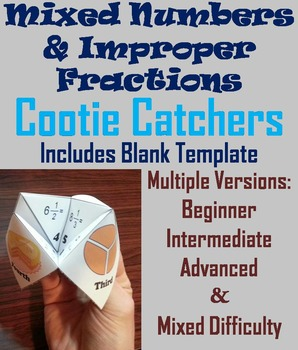 Improper Fractions & Mixed Numbers Activity/ Foldable (Scoot Unit Review Game)