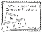 Mixed Number & Improper Fractions Task Cards