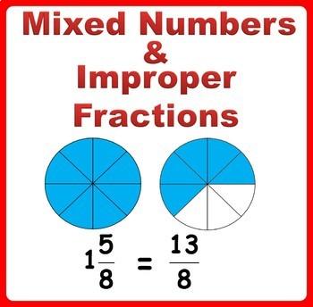 Mixed Number Improper Fractions Worksheets 4th Grade