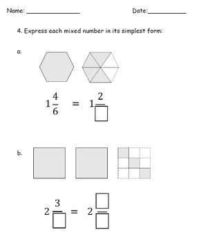 Mixed Number Improper Fractions Worksheets 4th Grade by TeachKidLearn