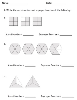 Mixed Number Improper Fractions Worksheets 4th Grade