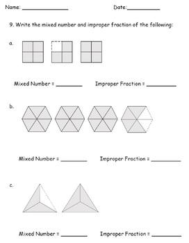 mixed number improper fractions worksheets 4th grade by teachkidlearn. Black Bedroom Furniture Sets. Home Design Ideas
