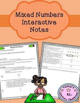 Mixed Numbers Interactive Notes