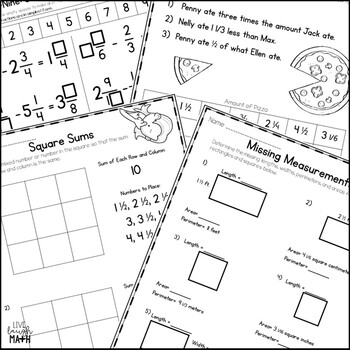 Add, Subtract, & Multiply Mixed Numbers Enrichment: Math Logic Puzzles