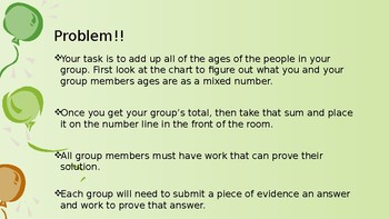 Mixed Number Performance Task