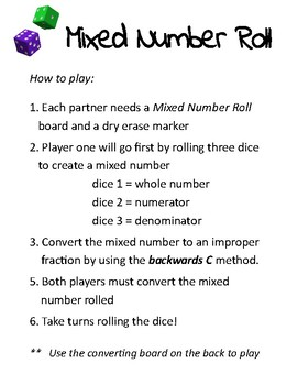 Mixed Number Roll
