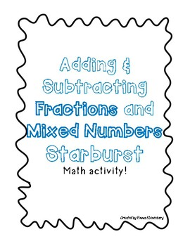 Mixed Number Starburst Activity