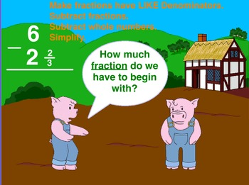 Mixed Number Subtraction Flipchart 40 pages
