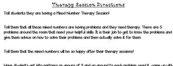 Mixed Number Therapy Sessions (Word Problems)