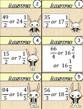 Mixed Number Times Whole Number Task Cards