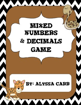 Mixed Number and Decimal Game