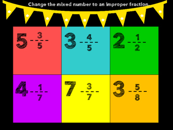 Mixed Number and Improper Fraction BINGO
