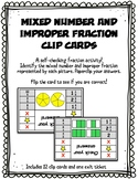 Mixed Number and Improper Fraction Clip & Flip