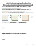 Mixed Number and Improper Fraction Conversions Notes