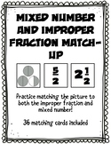 Mixed Number and Improper Fraction Matching