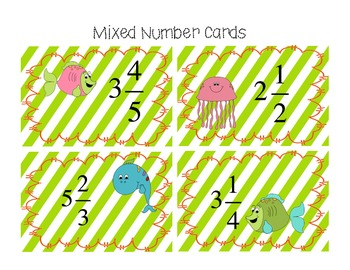 Mixed Number and Improper Fraction Matching Game