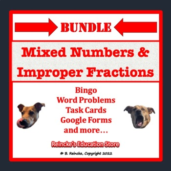 Mixed Number and Improper Fraction Package (7 products in all!)
