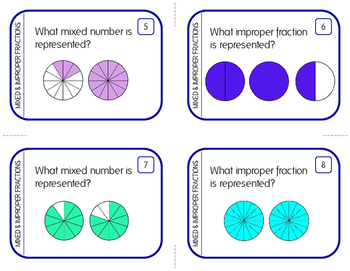 Mixed Number and Improper Fraction Task Cards