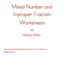 Mixed Number and Improper Fraction Worksheets