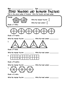Mixed Number and Improper Fractions