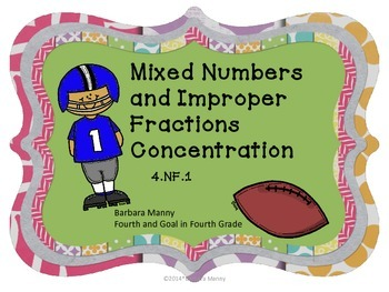 Mixed Number and Improper Fractions Concentration