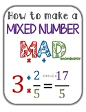 Mixed Number to Improper Fraction Anchor Chart