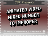 Mixed Number to Improper Fraction Animated Video