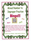 Mixed Number to Improper Fraction BINGO!