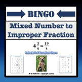 Mixed Number to Improper Fraction Bingo (30 pre-made cards!)