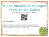Mixed Number to Improper Fractions QR Codes